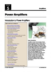 Power Amplifiers - Learn About Electronics