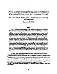 Power and Performance Management of ... - Semantic Scholar