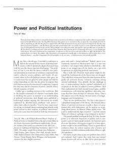 Power and Political Institutions