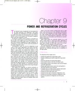 Power and Refrigeration Cycles