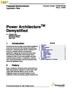Power ArchitectureTM Demystified - Freescale Semiconductor