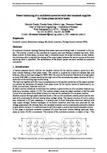 Power balancing of a multilevel converter with two ... - CiteSeerX