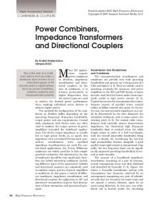 Power Combiners, Impedance Transformers and ... - Semantic Scholar