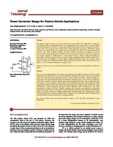 Power Converter Design for Electric Vehicle Applications