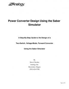 Power Converter Design Using the Saber Simulator