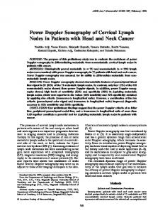 Power Doppler Sonography of Cervical Lymph Nodes in Patients with ...
