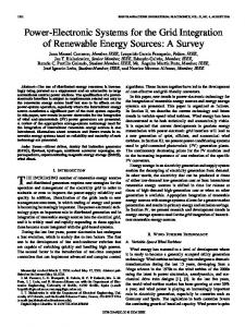 Power-Electronic Systems for the Grid Integration of Renewable ...