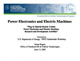 Power Electronics and Electric Machines - Advanced Vehicle ...