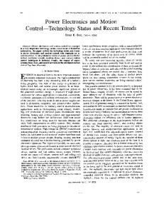 Power electronics and motion control-technology ...