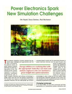 Power electronics spark new simulation challenges ... - IEEE Xplore