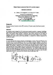 Power-factor control of the LCC current-output resonant converter