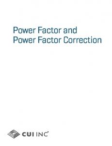 Power Factor Correction.indd - CUI Inc