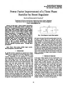 Power Factor Improvement of a Three Phase Rectifier ...