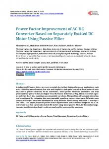 Power Factor Improvement of AC-DC Converter Based on Separately ...