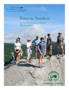 Power in Numbers - Land Trust Accreditation Commission