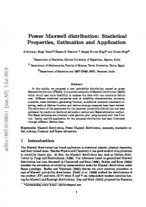 Power Maxwell distribution: Statistical Properties, Estimation and