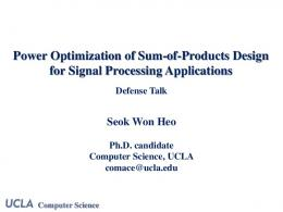 Power Optimization of Sum-of-Products Design for