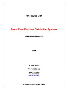 Power Plant Electrical Distribution Systems