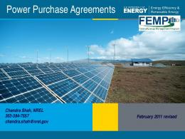 Power Purchase Agreements - Office of Energy Efficiency ...