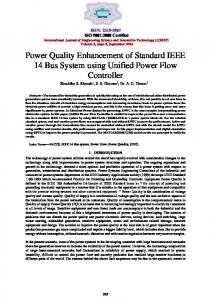 Power Quality Enhancement of Standard IEEE 14 Bus ...