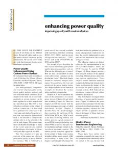 Power quality enhancement using custom power devices - IEEE Xplore