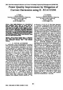 Power Quality Improvement by Mitigation of Current Harmonics using D