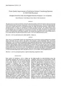 Power Quality Improvement in Distribution Systems ... - UKM