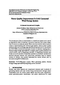 Power Quality Improvement In Grid Connected Wind ...