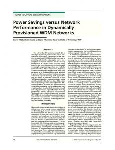 Power Savings versus Network Performance in ... - IEEE Xplore
