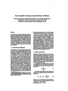 Power Scalable Processing Using Distributed ... - Semantic Scholar