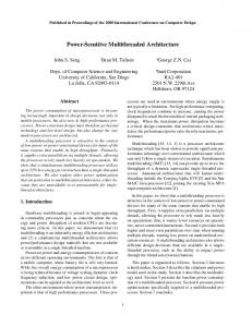 Power-Sensitive Multithreaded Architecture - UCSD CSE