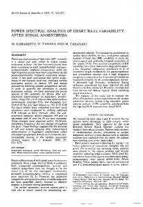 power spectral analysis of heart rate variability ... - Semantic Scholar