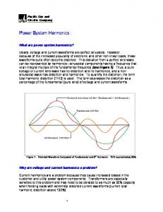 Power System Harmonics - Pacific Gas and Electric Company