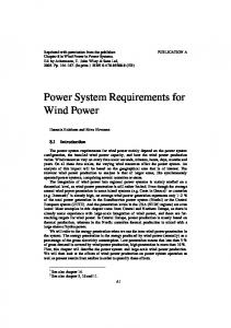 Power System Requirements for Wind Power