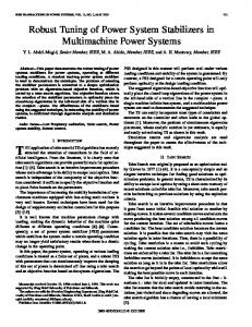 Power Systems, IEEE Transactions on - CiteSeerX