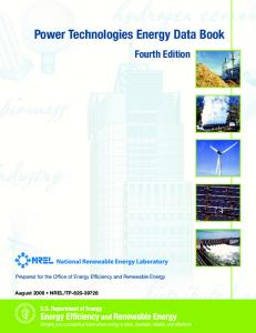 Power Technologies Energy Data Book: Fourth Edition