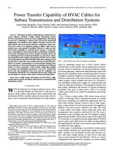 Power Transfer Capability of HVAC Cables for Subsea ... - IEEE Xplore