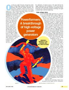 Powerformers: A breakthrough of high-voltage power ... - IEEE Xplore