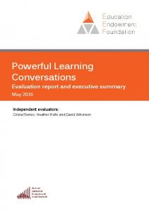 Powerful Learning Conversations - Education Endowment Foundation