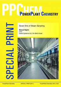 powerplant chemistry - SWAN Analytical