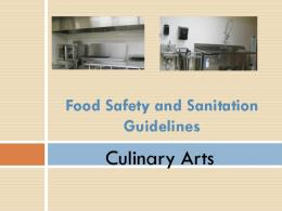 PowerPoint - Food Safety and Sanitation Guidelines
