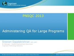 PowerPoint Presentation - Good Practices - PNSQC