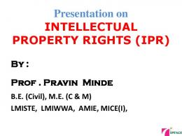 PowerPoint Presentation - Intellectual Property