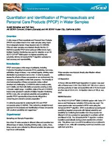PPCP in water - Sciex