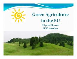 Ppt Green Agriculture Slavova - EESC European Economic and ...