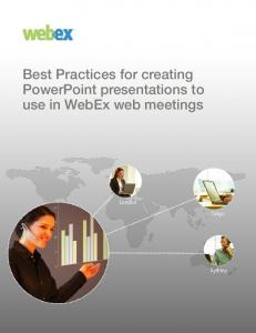 PPT WebEx Best Practices