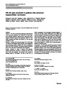 PR-104 plus sorafenib in patients with advanced ... - Springer Link