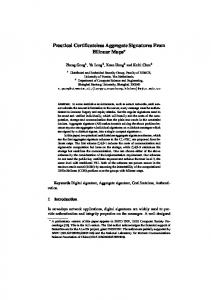Practical Certificateless Aggregate Signatures From Bilinear Maps ...