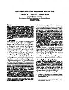 Practical Generalizations of Asynchronous State ... - Semantic Scholar