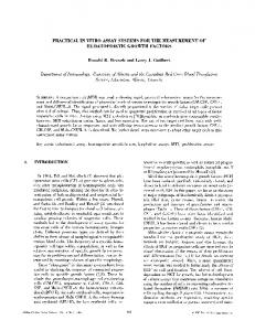 Practical in vitro assay systems for the measurement of hematopoietic ...